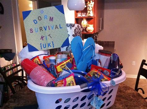 gift baskets for college students it s a quot survival kit quot complete with ramen towels