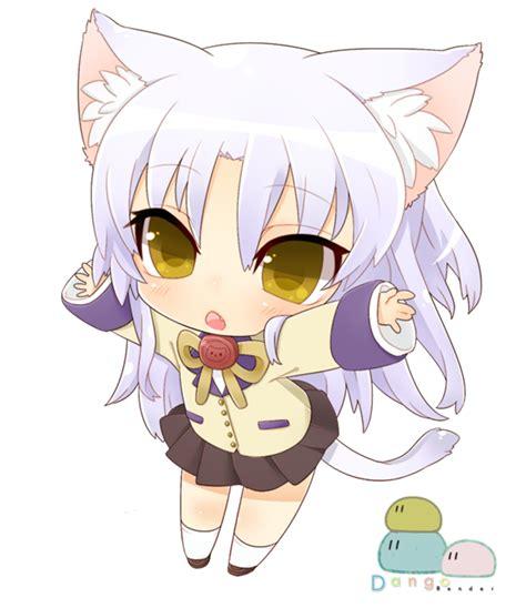 imagenes kawaii de nekos tachibana kanade chibi neko mode by dangorender on