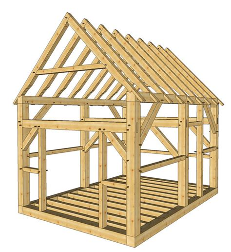 Two Door Shed Timber Frame Shed Plans Size 12 X 16 With Two Doors