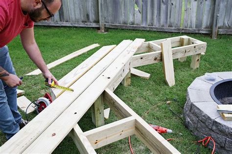 diy pit bench this diy wooden bench takes the backyard pit to the