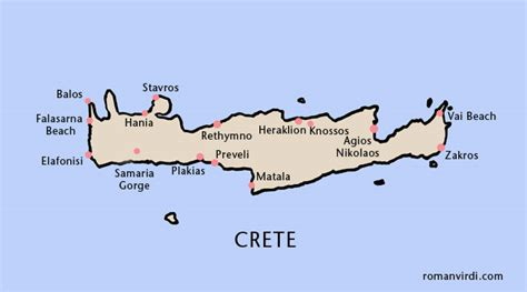 crete map map of crete greece images