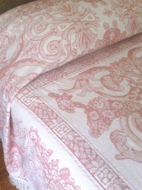 pink matelasse coverlet pink white matelasse bedspread king cherubs rose