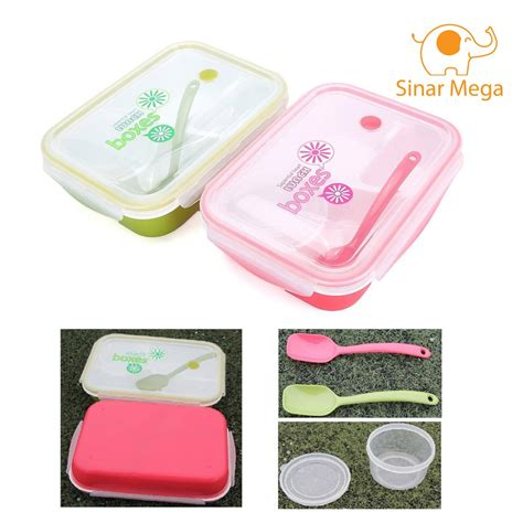 Yooyee Lunch Box by Yooyee Lunch Box 415 4 Sekat Kotak Makan Bento Set Anti