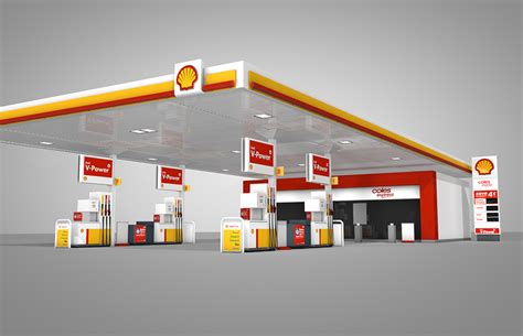 Gas Station Floor Plans shell service station 3d model david fleming portfolio