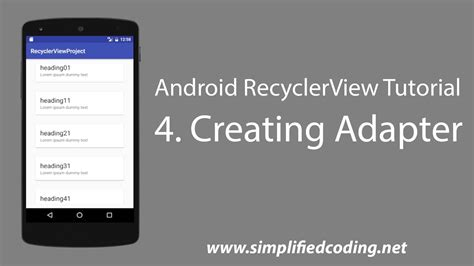 Android Recyclerview by 4 Android Recyclerview Tutorial Creating Adapter