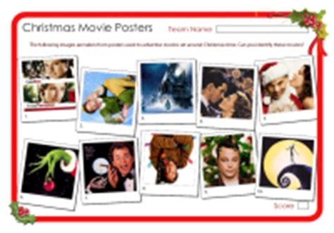 film initials quiz answers christmas movie posters