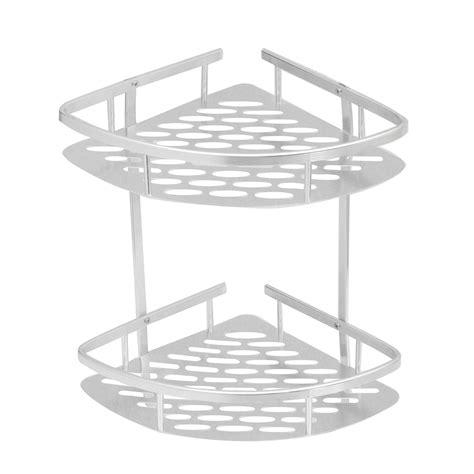 Corner Caddy Shelf by Triangular Shower Caddy Shelf Bathroom Wall Corner Rack Storage Organizer Holder Ebay