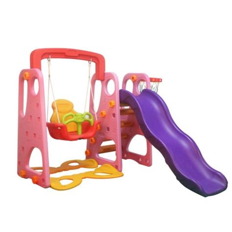 indoor swing and slide indoor outdoor kid s slide swing set pink