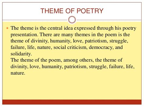 theme definition for poetry poetryyy