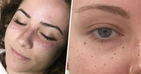 tattoo freckles freckles are the new beauty trend and people are tattooing
