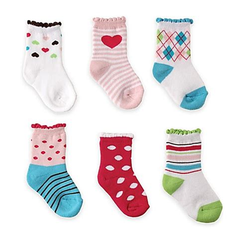 Happy Baby Socks 6 12m Murah gt accessories gt babyvision 174 luvable friends 174 size 6 12m 6 pack computer cushion socks in