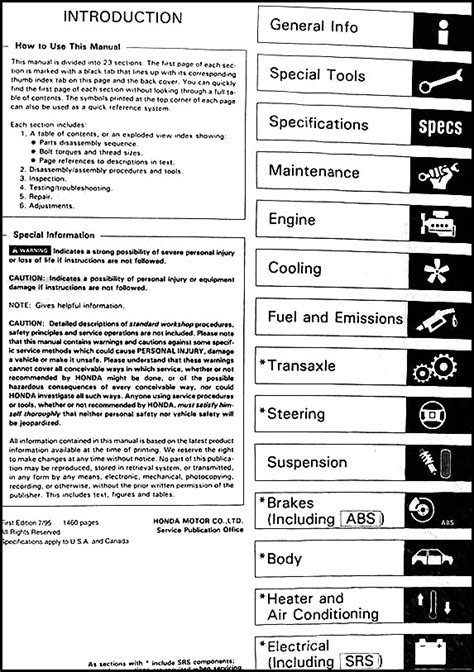 free auto repair manuals 1987 honda accord parental controls 1996 honda accord repair shop manual original