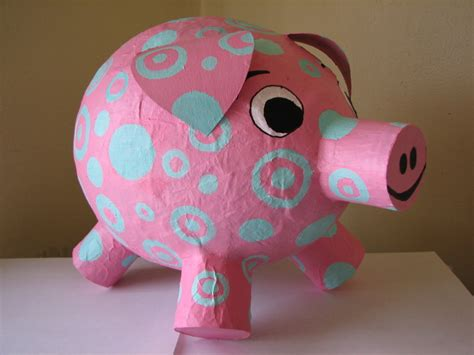 How To Make A Paper Mache Pig - crafts melinda chan