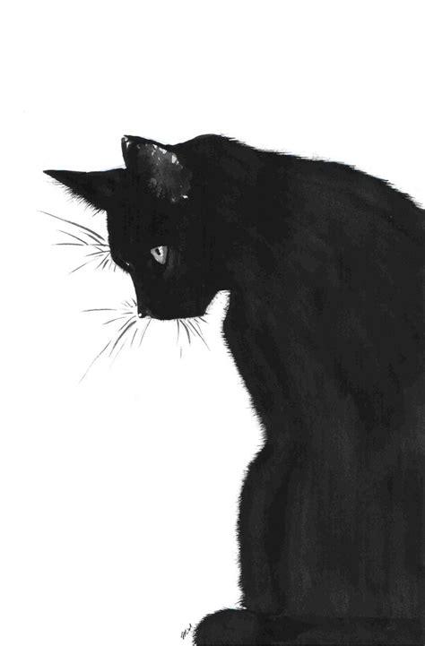 black cat painting designs best 25 black cat drawing ideas on black cat