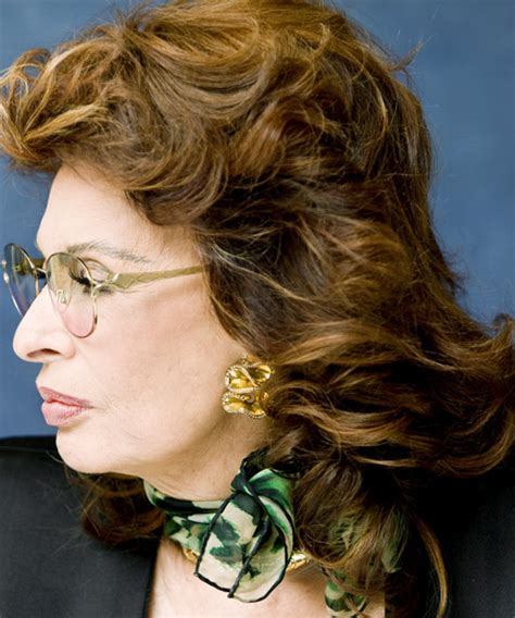 Sophia Loren Medium Wavy Formal Hairstyle