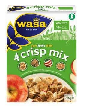 Multigrain Mix 500 Gr wasa 4 crisp mix eple med n 230 ringsinnhold oppskrifter og