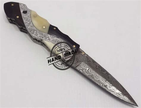 amazing knives hand engraved amazing damascus folding liner lock knife custom
