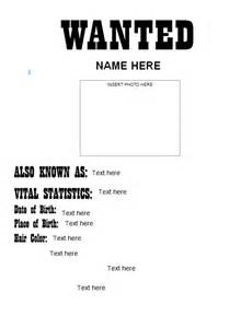 Most Wanted Poster Template by 29 Free Wanted Poster Templates Fbi And West