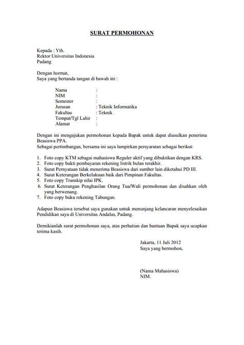 Contoh Surat Permintaan Barang Resmi by Contoh Surat Pengajuan Permohonan Contoh Surat