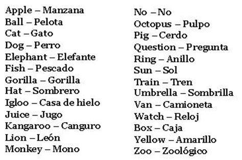 imagenes de palabras en ingles y español tareas de williams avila primero quot a quot palabras en ingles y
