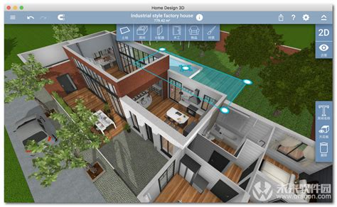 home design 3d sur mac home design 3d mac破解 home design 3d for mac 家居设计软件 v4 1