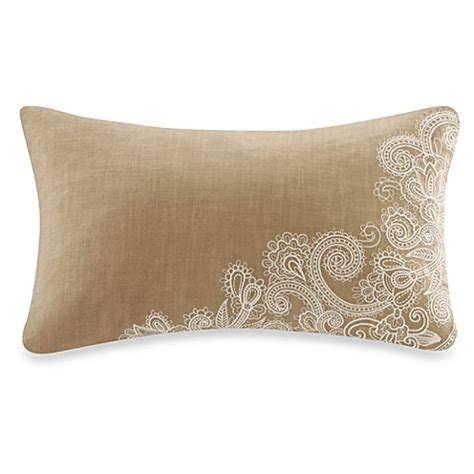 corner bed pillow harbor house chelsea paisley embroidered corner oblong