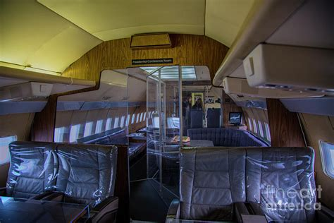 Air One Plane Interior by Interior Of Air One Photograph By Rick Bragan