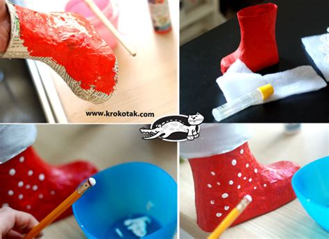 how to make paper boat very easily krokotak christmas boot papier m 226 ch 233
