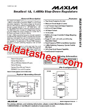 maxim integrated products chelmsford ma max1973eub データシート pdf maxim integrated products