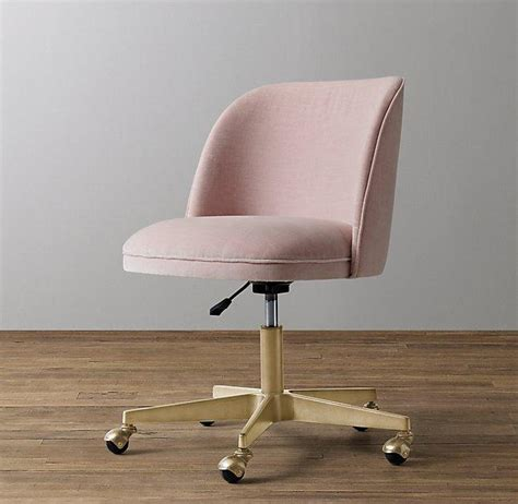 pink tufted desk chair brass base chair products bookmarks design