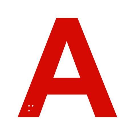 lettere braille lettre a braille en aluminium d 233 coup 233 100 ou 150mm de haut