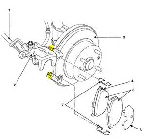 Kia Brake System Diagram Kia Spectra5 I Just Replaced The Rear Brake Pads On An
