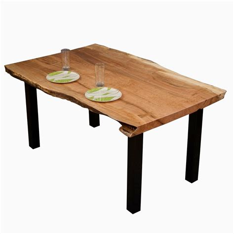 crafted gillespie reclaimed live edge maple dining