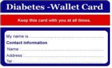 diabetic wallet card template blood sugar chart