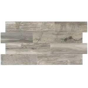 shop elida ceramica ledgewood stone linear porcelain wall tile common 12 in x 24 in actual