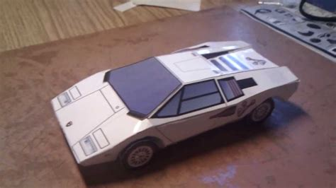 How To Make A Paper Lamborghini - lamborghini countach lp400 paper craft