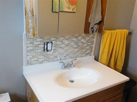 bathroom sink backsplash ideas bathroom sink backsplash height
