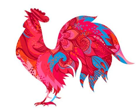 new year animal for 1957 year of the rooster