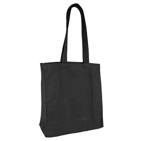 sac en tissu noir 100 coton 38x39x16 cm lg d anses 71 cm selfor