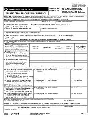 form design va certificate of eligibility va sle images certificate