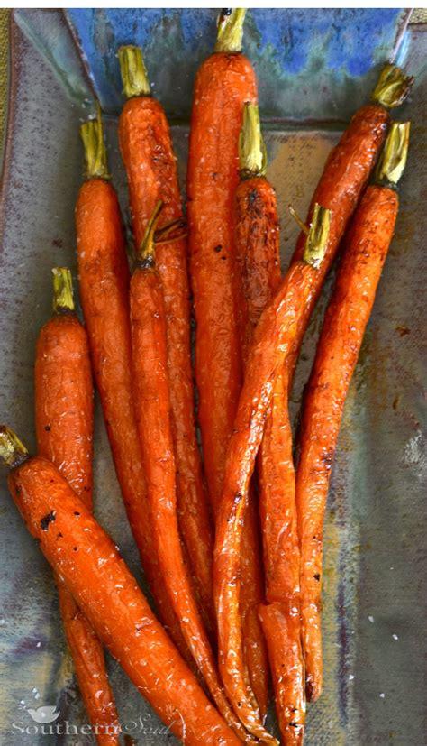 a southern soul roasted carrots with honey lemon