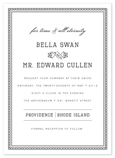 twilight wedding invitation card the twilight wedding edward s invites julep