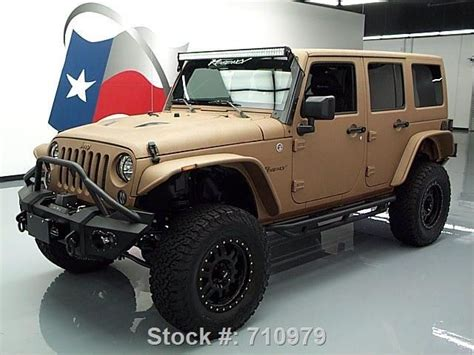 matte brown jeep 2015 matte and black customized jeep wrangler http
