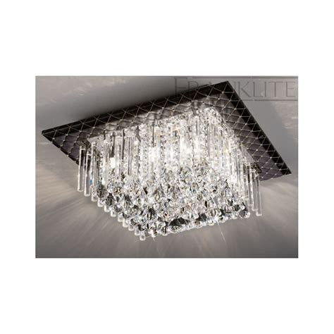 Flush Ceiling Chandeliers by Franklite Cascata Cf5678 Flush Ceiling Light