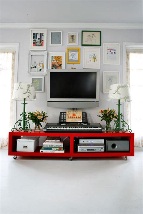 red tv armoire an interior decorator s home