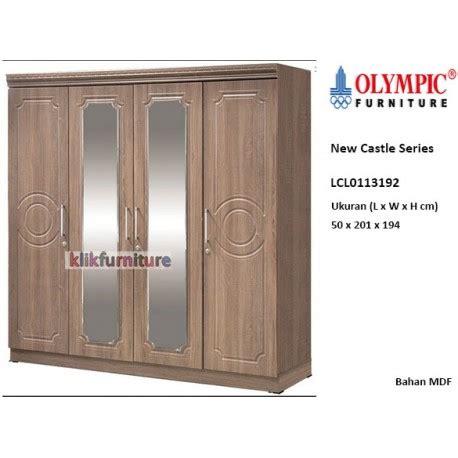 Lemari Olympic 4 Pintu lcl0113192 new castle olympic lemari 4 pintu agen termurah