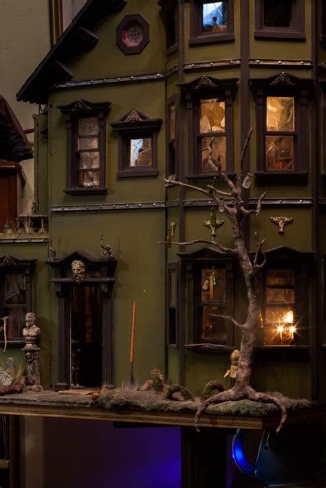 halloween doll house 114 best haunted miniature houses images on pinterest haunted dollhouse doll houses