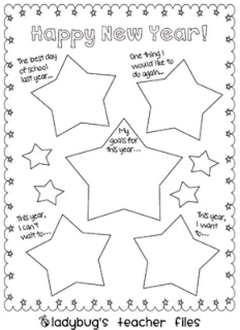 new year preschool activities new year s graphic organizers ladybug s files