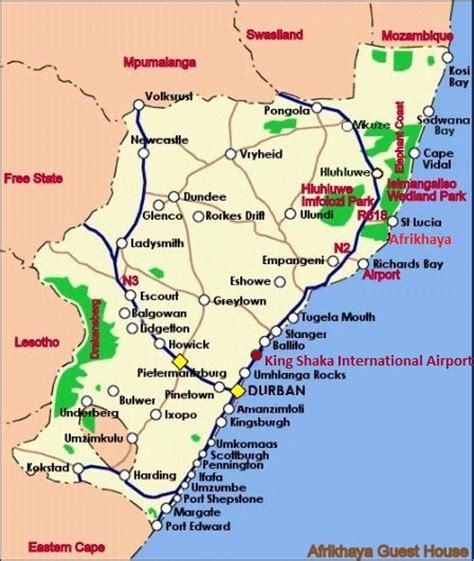printable road map of st lucia afrikhaya guest house st lucia maps and directions