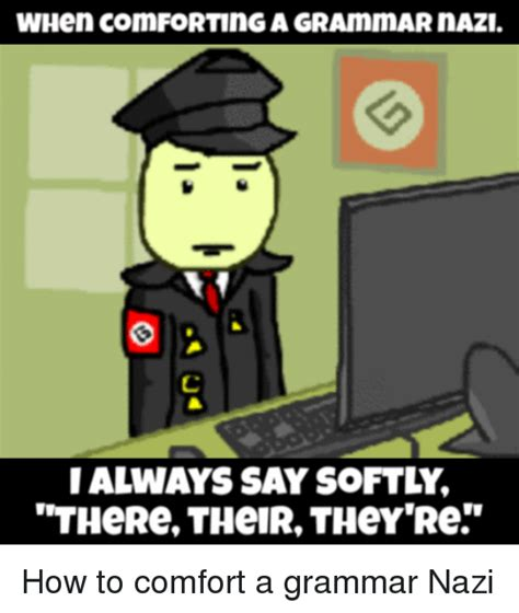 when comforting a grammar nazi 25 best memes about there their theyre there their